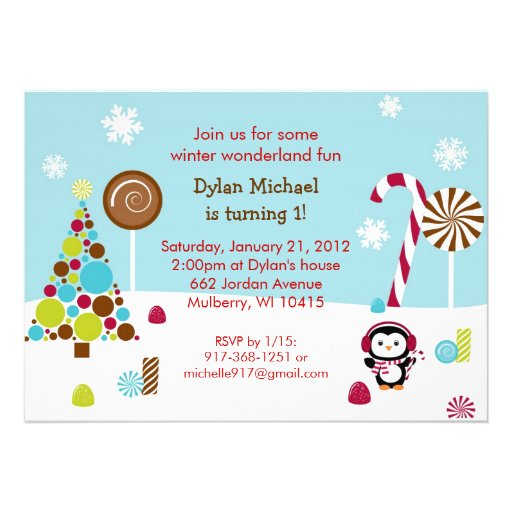 Winter Wonderland Birthday Invitations for your inspiration to make invitation template look beautiful