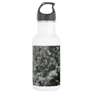 Winter Wonderland Pine Tree with Snow Fall 532 Ml Water Bottle