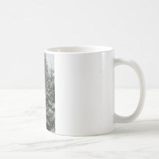 Winter Wonderland Pine Tree with Snow Fall Basic White Mug