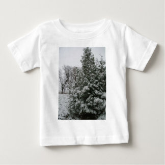 Winter Wonderland Pine Tree with Snow Fall Infant T-Shirt