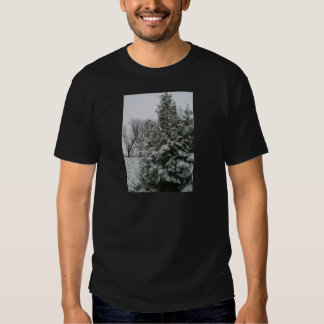 Winter Wonderland Pine Tree with Snow Fall Tshirts