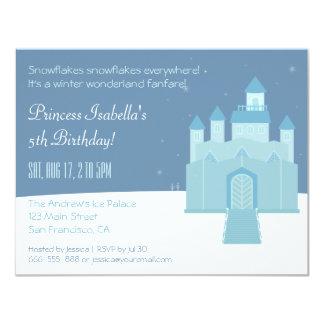 Winter Wonderland Princess Birthday Party 11 Cm X 14 Cm Invitation Card