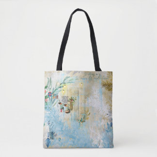 Winter Wonderland Print tole bag
