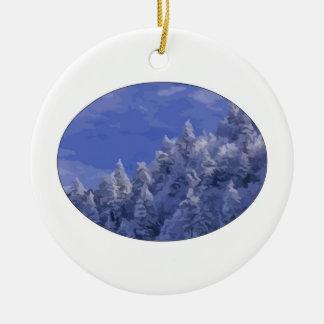 Winter Wonderland Round Ceramic Decoration
