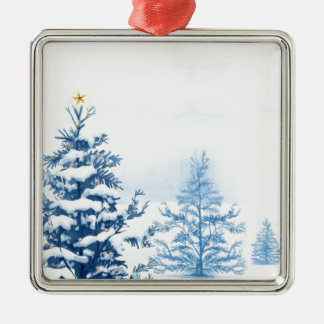 Winter Wonderland Silver-Colored Square Decoration