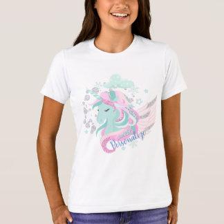 Winter Wonderland Silver Sparkle Unicorn Persoa T-Shirt