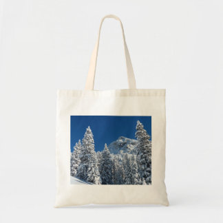 Winter Wonderland Snow Covered Trees Mountains Canvas Bag