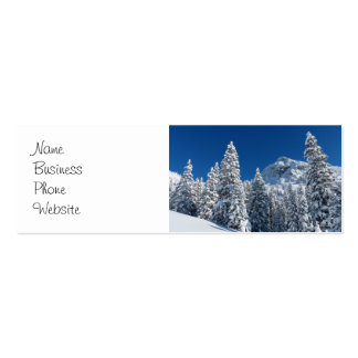 Winter Wonderland Snow Covered Trees Mountains Business Cards