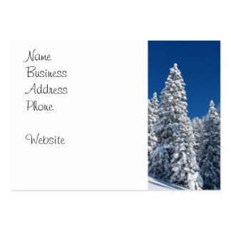 Winter Wonderland Snow Covered Trees Mountains Business Card Template