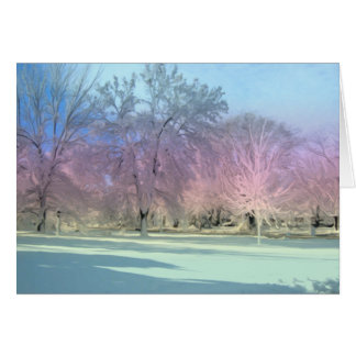[Winter Wonderland] Snow Ice Trees - Any Occasion Card