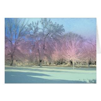 """Winter Wonderland"" Snow Ice Trees [Blank Inside] Card"