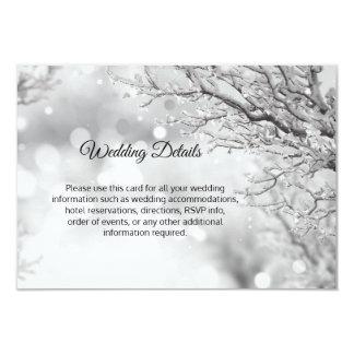 Winter Wonderland Snow Wedding Details Inserts Card