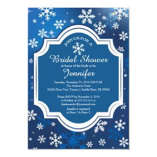 Winter Wonderland Snowflakes Bridal Shower 13 Cm X 18 Cm Invitation Card