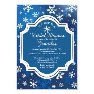 Winter Wonderland Snowflakes Bridal Shower Card