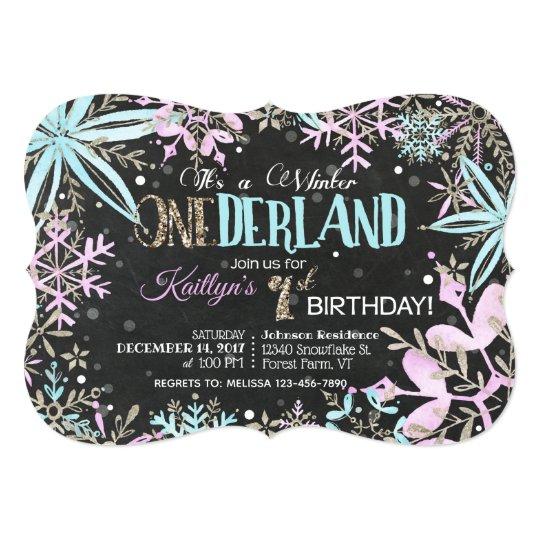 Winter Wonderland Snowflakes Sparkle Birthday Card