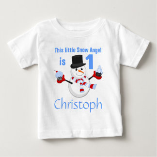 Winter Wonderland Snowman First Birthday Baby T-Shirt