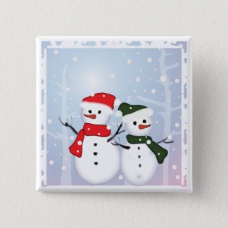 Winter Wonderland Snowman Our First Christmas 15 Cm Square Badge