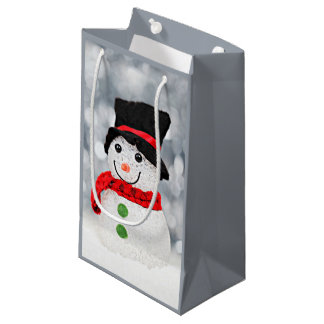 Winter Wonderland Snowman Small Gift Bag