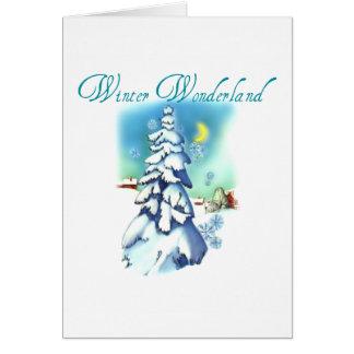 Winter Wonderland Snowy Tree Christmas Card