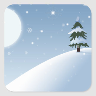 Winter Wonderland Square Sticker