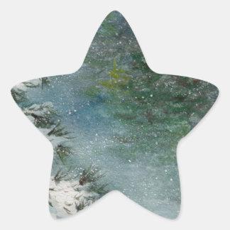 Winter Wonderland Star Sticker