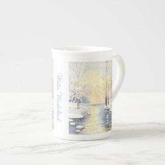 Winter wonderland tea cup