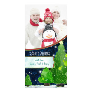 Winter Wonderland Trees Holiday Photo Card