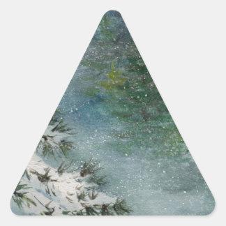 Winter Wonderland Triangle Sticker