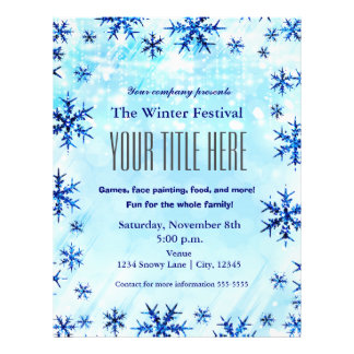 Winter Wonderland Type Festival Event Flyer Poster