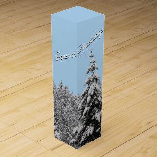 Winter Wonderland Wine Box Custom Winter Forest