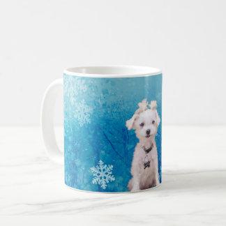 Winter Wonderland with Little Maltese Dog Coffee Mug