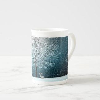Winter Wonderland with Rabbit Tea Cup