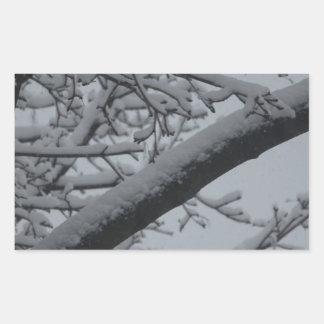Winter wonderlands rectangular sticker