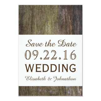 Winter Wood Wedding Save The Date Card