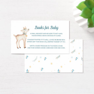 Winter Woodland Baby Shower Books for Baby Card