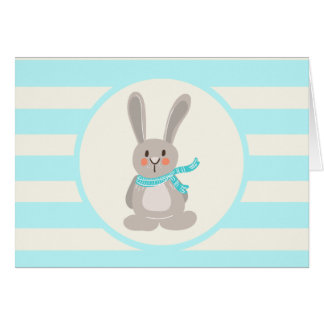 Winter Woodland Bunny Rabbit; Bright Blue Cards