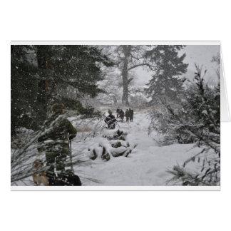Winter woodland card