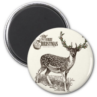 winter woodland christmas deer magnets