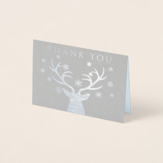 Winter Woodland Deer Baby Shower Thank You Cards