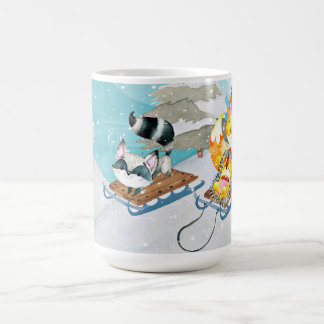 Winter Woodland Friends -Fox Hedgehog Illustration Coffee Mug
