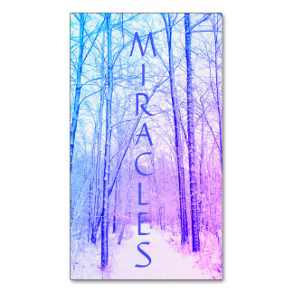 Winter Woodland Miracles Magnet
