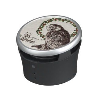 winter woodland owl bluetooth speaker
