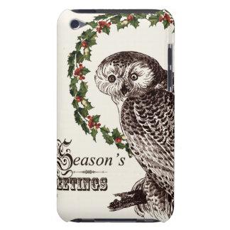 winter woodland owl iPod Case-Mate case