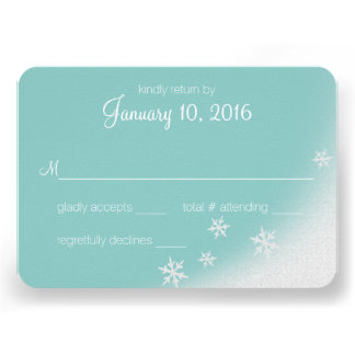 Winter Woodland Snowflakes Silver Grey Reply Invitation