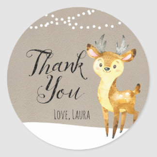 Winter Woodland Thank You Stickers