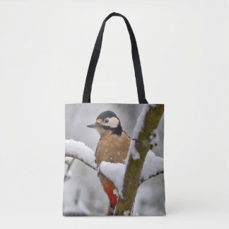Winter Woodpecker All Over Print Bag