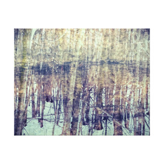 winter woods impressionism canvas print