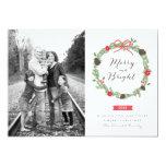 Winter Wreath by Holiday Photo Cards Custom Invitations