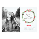 Winter Wreath by Origami Prints Photo Cards Custom Announcement