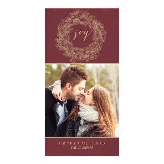 WINTER WREATH | JOY | STYLISH HOLIDAY CARD PHOTO GREETING CARD